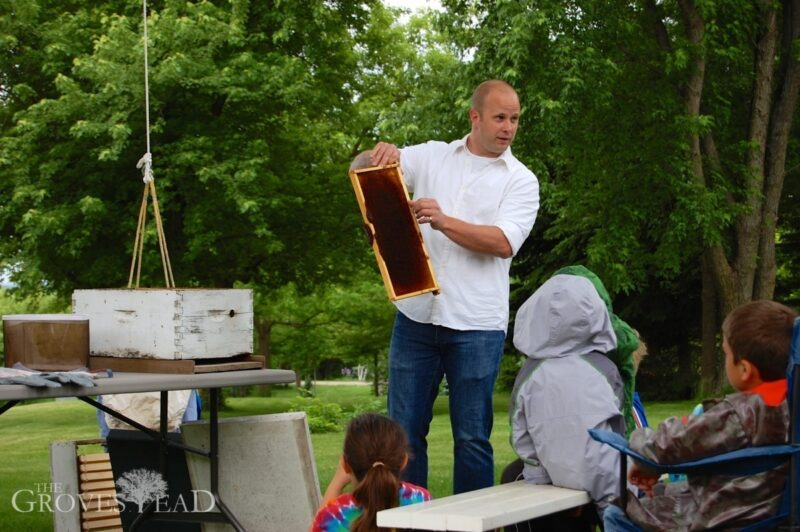 Adam give beekeeping talk