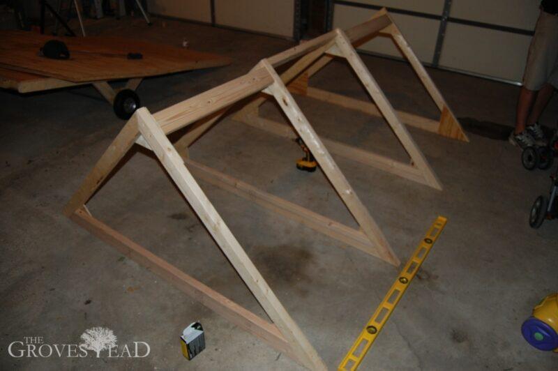 Mobile chicken coop basic frame