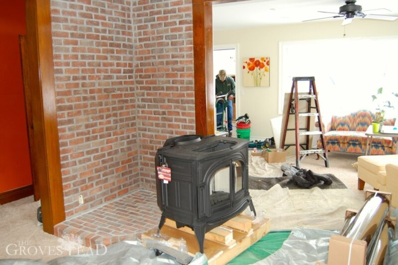 Installing wood stove