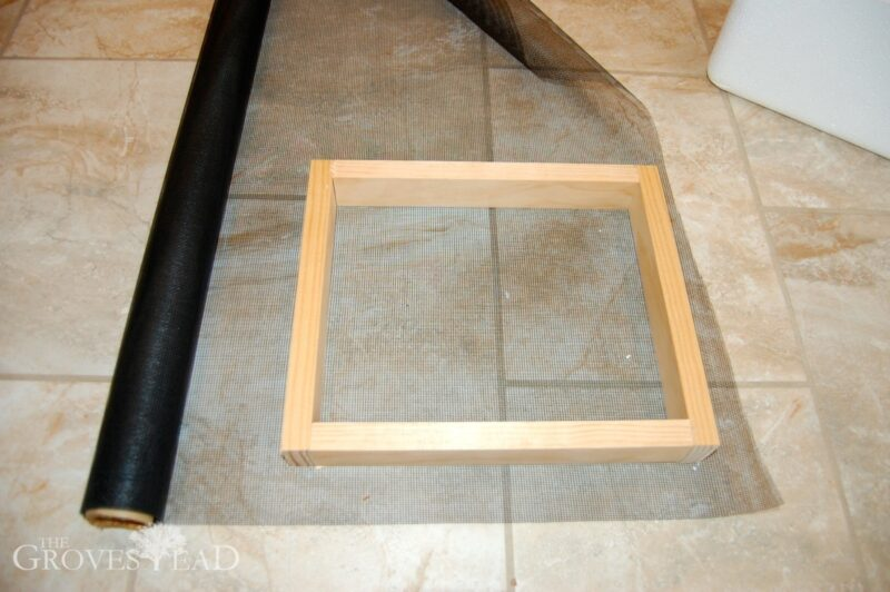 Cut out screen to fit the frame