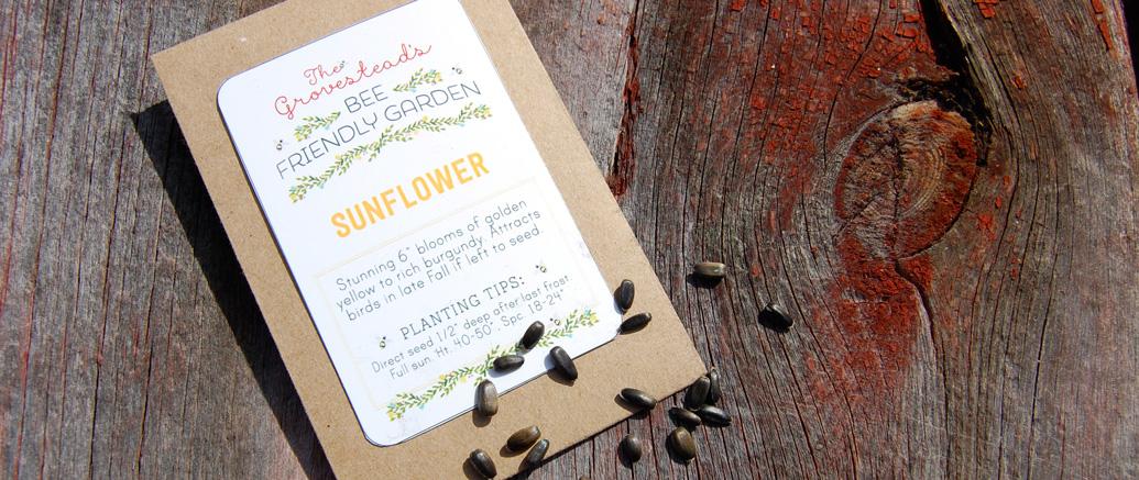 The Bee-Friendly Garden: Sunflower seeds