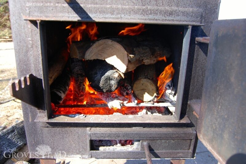 Wood-burning firebox