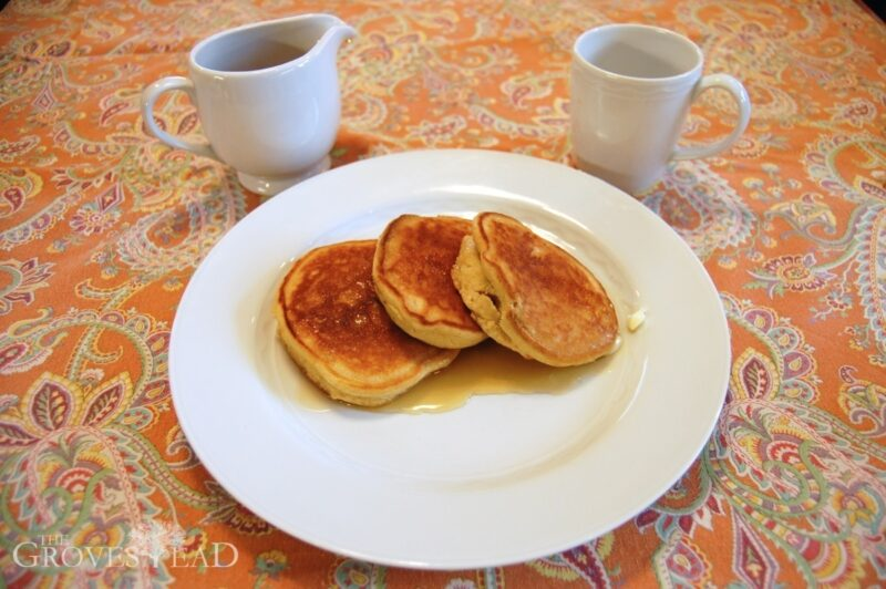 Enjoy your pure maple syrup with pancakes and a good cup of coffee.