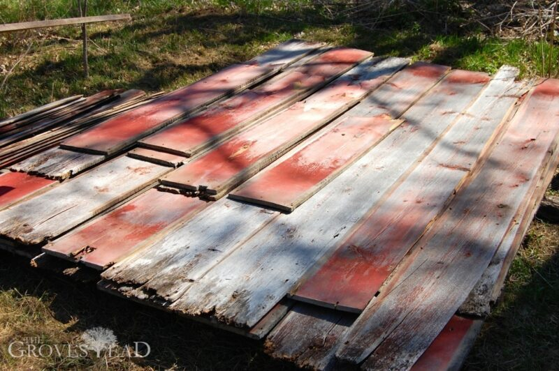 Weathered barnwood siding