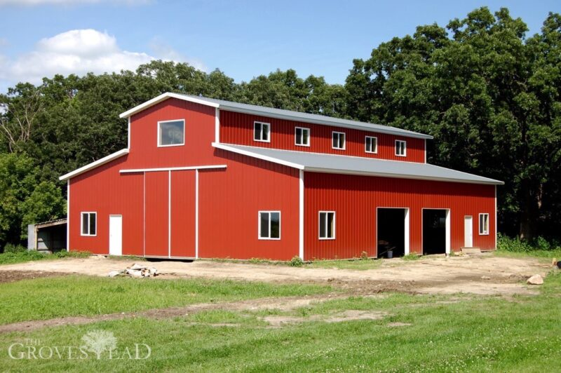 Barn construction is complete