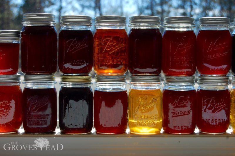 Abundant maple syrup