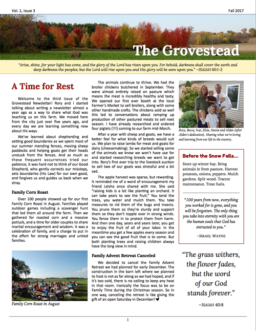 The Grovestead - Fall 2017 Pic